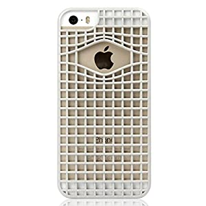 Ahha Mozie Grid Back Case Cover for Apple iPhone 5S / 5 - Space Grey (A-GCIH5-0M0G)