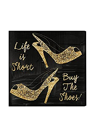 Oliver Gal 'Buy The Shoes' Canvas Art