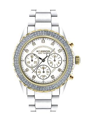 K&BROS 9553-3 / Reloj de Señora  con correa de plástico blanco
