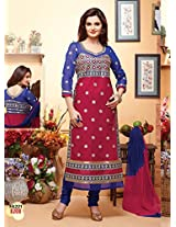 New Designer Maroon And Blue Salwar Suit FA221-8208