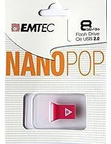 EMTEC Nano Pop 8 GB Flash Drive, Pink
