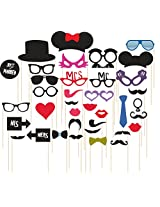 Syga 36pcs/set Photo Booth Party Props
