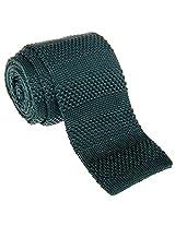 "Retreez Smart Casual Men's 2.4"" Skinny Knit Tie with Stripe Texture - Dark Green"