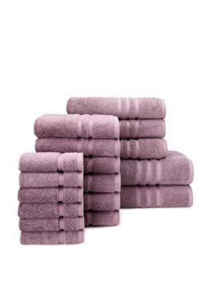 Chortex Irvington 17-Piece Towel Set, Grape