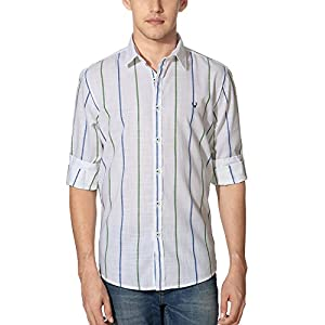 Allen Solly Men's Comfort Fit Cotton Shirt [24544_Green_44]