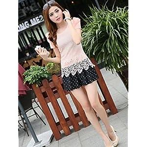 Onlyurs Organza Design New Arrival Slim Fit Short Sleeve Dress