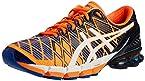 Asics Men's GEL KINSEI 5 Orange and White Mesh Running Shoes - 11 UK