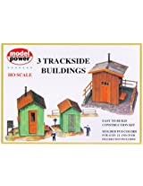 Model Power HO Scale Building Kit - 3 Trackside Buildings