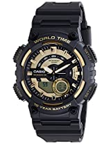 Casio Youth - Combination Analog-Digital Gold Dial Men's Watch - AEQ-110BW-9AVDF(AD206)