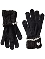 Betsey Johnson Women's Knit Glove iTouch Fingers and Rhinestones