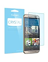 HTC One M9 Screen Protector, Spigen® [Full HD] HTC One M9 Screen Protector (Hima) Clear **NEW** [Crystal] [CR] JAPANESE BASE PET FILM High Definition (HD) Premium Ultra Clear Front Screen Protector for HTC One M9 (Hima) (2015) - CR (SGP11380)