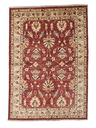 Darya Rugs Oushak Oriental Rug, Red, 4' 1