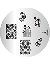 Konad Image Plate Nail Art, M83
