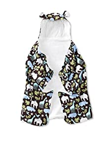 My Blankee Baby Hooded Towel with Ears (Zoology Brown)