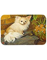Caroline's Treasures MH1053JCMT Chihuahua Just Basking Kitchen or Bath Mat, 24 by 36 , Multicolor