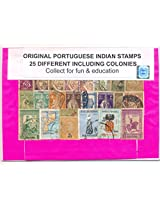 Stamps Portuguese Indian including colony Lage & Small Size - 25 Different