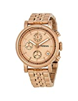 Fossil Boyfriend Chronograph Rose Gold-tone Dial Rose Gold Stainless Steel Ladies Watch -FSES3380