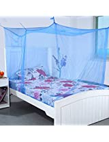 Mosquito Net for Large Big Double Bed 7 x 7 Feet - (Blue)