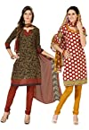 Fabdeal American Crepe Dress Material Combo Pack Of 2 - VBCR1102021VU