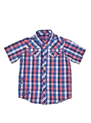 New Caro Camisa Coronada (Coral / Azul)