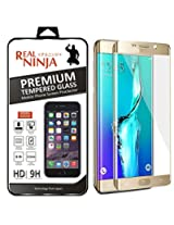 Real Ninja Premium Tempered Glass Screen Protector For Samsung Galaxy S7 Edge Gold