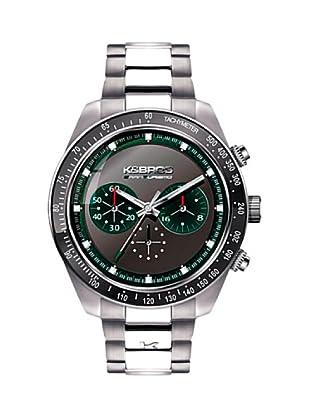 K&BROS 9481-3 / Reloj de Caballero con brazalete metálico negro / verde