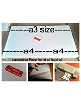 Tclindia Latest Lamination Papers A3 100 Sheets 125 Microns