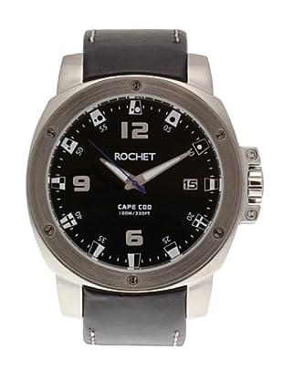 Rochet W307015 - Reloj Unisex movimiento de cuarzo con correa de piel negro