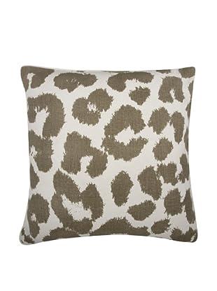 Thomas Paul Leopard Feather Pillow, Mushroom
