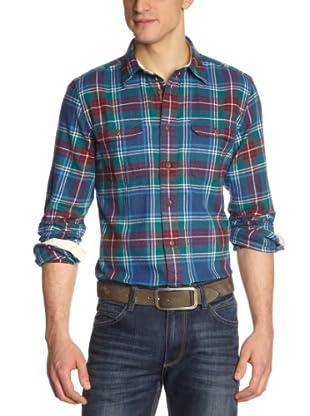 Cottonfield Hemd (Blau/Rot/Grün)