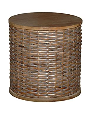 Jeffan Lina Round End Table, Grey Wash