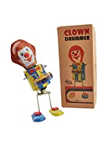 Tin Toys Clown Drummer Collectible Welby Treasures Replica India Wind-up