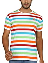 Paani Puri Men's Round Neck T-Shirt (MKLMSB46_S blue_Large)