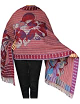 Boiled Wool Jamawar Shawl Scarves Womens Indian Clothing (82 x 28 inches)