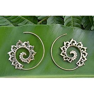 The Desi Soul Ornate Spiral Earrings