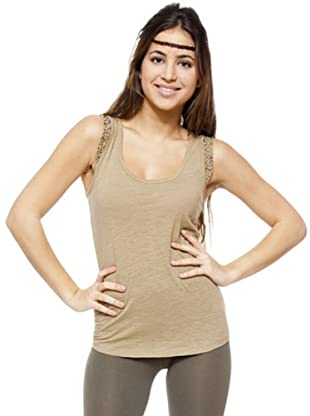 Ikks Camiseta Abalorios (Camel)