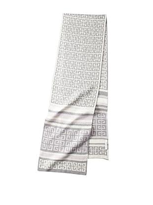 Givenchy Unisex Knit Logo Scarf, Lavender/Ivory