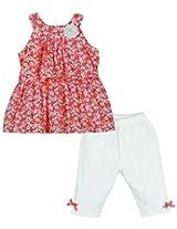 Oye Tunic Dress With Capri - Coral (2 - 3 Years)