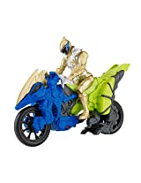 """Power Rangers Dino Charge - Dino Cycle with 5"""" Gold Ranger Action Figure"""