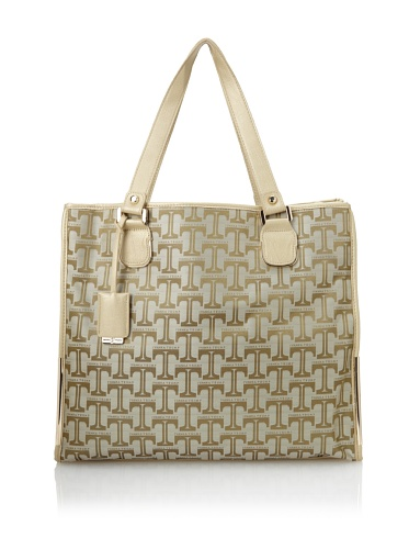 Ivanka Trump Women's Crystal Structured Tote, Gold/Gold
