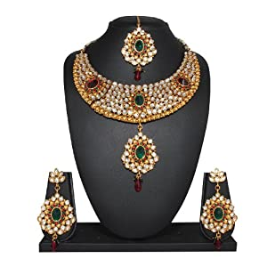 Charming Multicolored Kundan Bridal Necklace Set