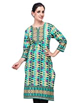 Diti Women Green Printed Kurti - 1024GR