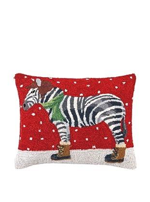 Peking Handicraft Winter Zebra Lumbar Pillow, Multi