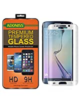 Adoniss Premium Curved Tempered Glass Screen Protector For Samsung Galaxy S6 edge Silver