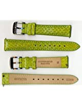 Invicta Genuine Womens 16mm Green Copper Head Snakeskin Leather Watch Strap IS350