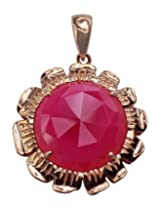 Carillon India Pink Onyx WIth Chain Solitaire Pendent