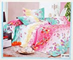 Valtellina Flower and Leaf Design Double Bedsheet - DF-026
