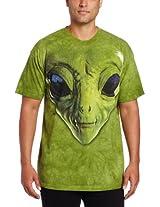The Mountain Men's Alien Face T-Shirt, Green, X-Large
