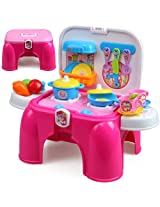 XIONG CHENG Portable Kitchen Pretend Play Battery Operated Toy Set