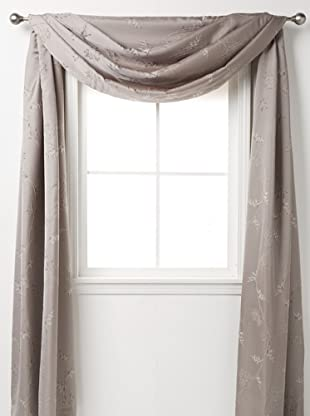 Waterford Linens Silvie Scarf Valance, Grey, 208